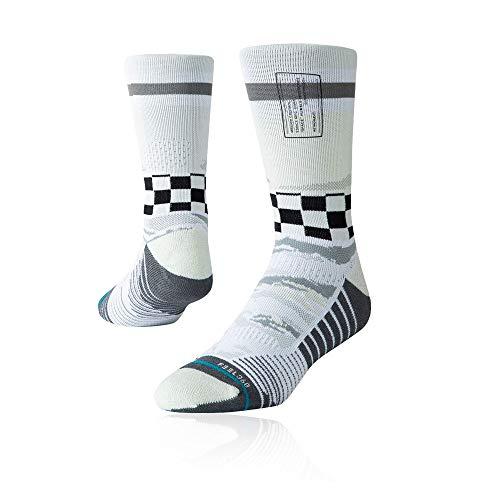 Stance Herren Mission Space Crew Socken, Offwhite, M