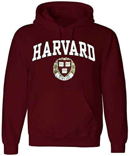 Harvard Shirt Hoodie Sweatshirt University T-Shirt Business Law Clothing Apparel (Medium) Crimson