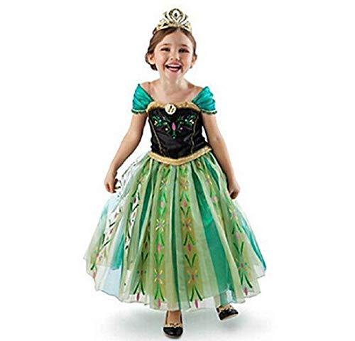 Disfraz de princesa Anna Elsa Belle Aurora para nias pequeas, para Halloween, fiestas y vacaciones, 24 m-12t