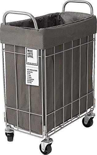 BRID WIRE ARTS & PRO フォールディング(折り畳み)ランドリースクエアバスケット 28L キャスター付(003269) (ダークグレー)