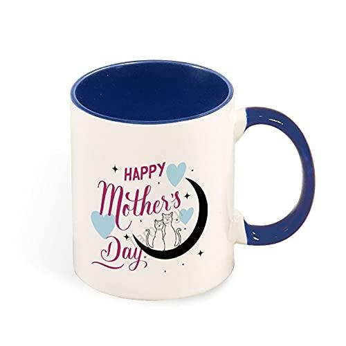 Divertida taza de café en dos tonos, taza de té de café, regalo de cumpleaños único para hombres y mujeres, tamaño único para el día de la madre