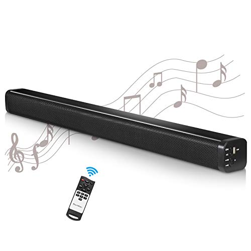 2.1 Channel Bluetooth Sound Bar Wohome TV Soundbar with Built-in Subwoofer 36 Inch 3 Drivers Remote Control