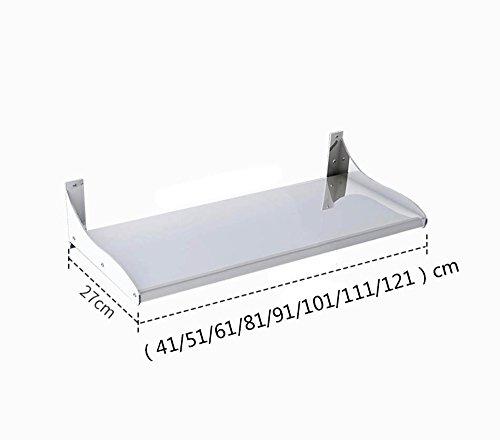 ZWL Rack de stockage de cuisine, multifonction économiser de l'espace moderne Condiment stockage Rack plaque de stockage en acier inoxydable 1 histoire 41-121 * 27 cm , une bonne aide pour le stockage de la cuisine ( taille : 111cm )