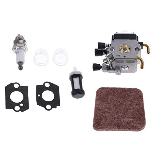 Vergaser Dichtung Luftfilter Zündkerze Kraftstofffilter für STIHL FS38 FS45 FS46 FS55 FS55R KM55 Trimmer