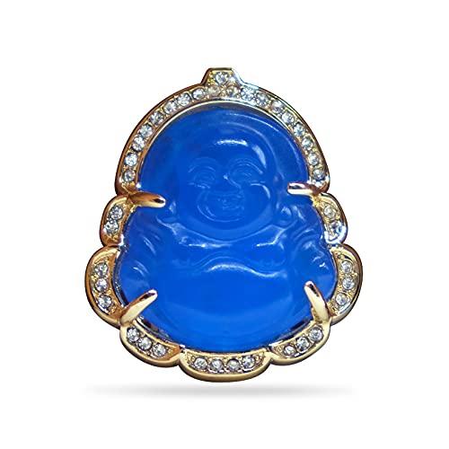 Buddha Lapel Pin - Blue