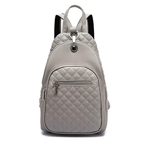 Small Backpack Purse for Women, Backpack Handbags Fashion Leather Purse with Convertible Shoulder Strap (grey)