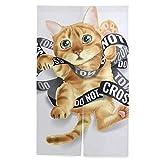 Lacuto のれん アンパンマン 70X150CM 水彩 ネコ 猫 室内インテリア 間仕切り ウォッシャブル 室内インテリア 和風 キティちゃんのれん のれん 85×90 歌舞伎のれん