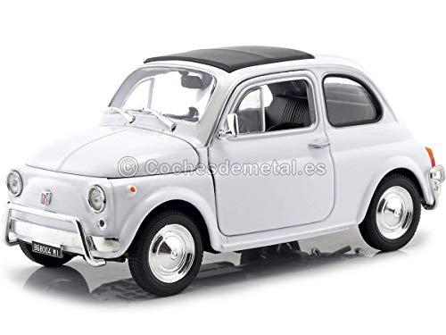 Welly 22515 Modellino 1957 Fiat 500, Bianco, 1:24 Die Cast