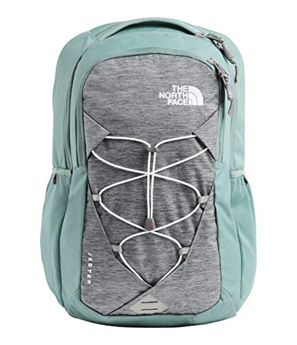 The North Face Women's Jester Backpack, Mid Grey Light Heather/Trellis Green, One Size