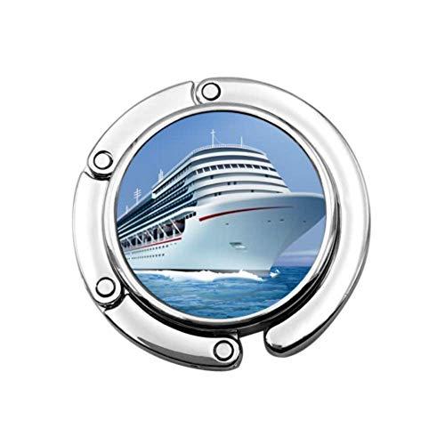 Purse Hook Realistische vectorillustratie Grote witte Cruise Opvouwbare handtashaken Klaptafel Hanger Holder Purse Hooks, Opvouwbare Purse Hook