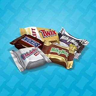 LUV BOX - Chocolate Mini Size Candy Variety Mix Includes Snickers, Milky Way Midnight and the original flavor 3 MUSKETEERS, Twix 74 oz., 240 ct.