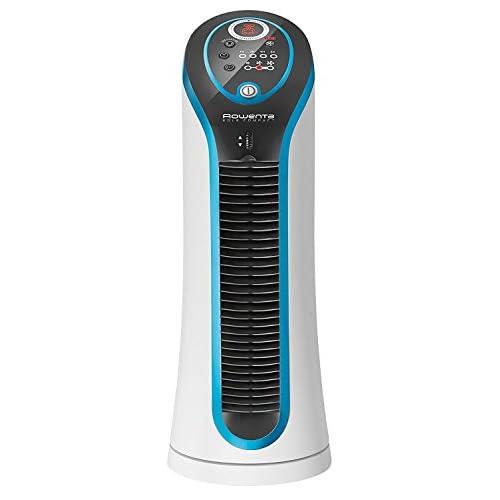 Rowenta VU6210 Eole Compact Mini Ventilatore a Torre, Silenziosità 45 dB(A), Timer, Spegnimento Automatico, 3 Velocità, 30 W, 60 Decibel, Blu