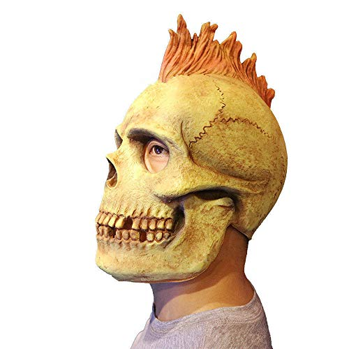 JNKDSGF Horror maskHorror Latex Schedel Hoofd Geest Volledige Gezicht Masker Cosplay Halloween Party Spelen Props Event Kostuums Joker Masker Fancy Jurk