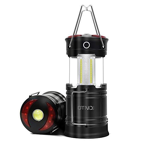 LED Camping Laterne Aufladbar, DTNO.I Camping Laterne USB Wiederaufladbar Zeltlicht, Tragbare Wasserdichte Zeltleuchte 4-in-1-Taschenlampe Am besten für Notfälle, Hurrikane & Stromausfälle (2er-Pack)