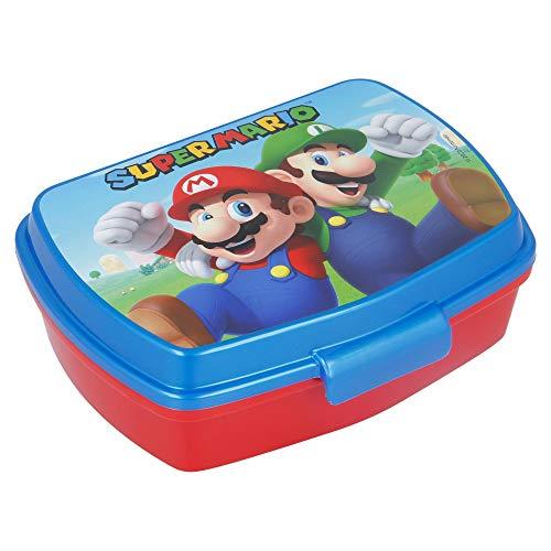 | Super Mario | Sandwichera Para Niños Decorada - Fiambrera Infantil | Caja Para El Almuerzo Y Porta Merienda Para Colegio - Lonchera