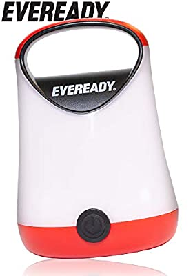 EVEREADY 360 LED Camping Lantern, IPX4 Water Resistant, Super Bright, 100 Hour Run-time, Battery Powered Outdoor LED Lantern
