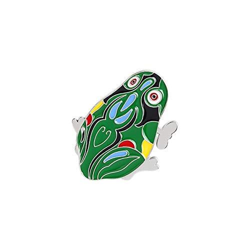 Pin de esmalte de rana bonita, broches de animales verdes de dibujos animados para mujeres, mochilas, ropa, Pin de solapa, insignia divertida, joyería, estilo de regalo 8