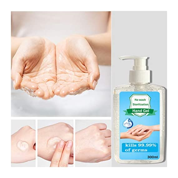 300ML Wash-Free Refreshing Hand Sanitizer Gel, Multipurpose Hand Soap Gel to 24-Hour Protection for Adults & Kids Kills 99.99% of Germs, Soft and Non-irritating 4 <p>❤️ PROTECT AGAINST BACTERIA: The hand cleaner is an Non-irritating Refreshing Hand Gel Hand Sanitizer that kills dirty stuff on contact! This clearner formula stops the spread of dirty stuff to keep your family safe. Safe for babies. ❤️ MOISTURIZING HAND CLEANER: Soft and non-irritating, does not harm the skin, has a water retention and hydration function ❤️ FOR THE FAMILY: Pass on the Dial heritage to the hands you care about most. Formulated to be gentle on skin, even on the smallest hands. ❤️ KILLS 99% OF DIRTY STUFF: Kills 99.99% of Bacteria* (*Bacteria encountered in household settings).This hand sanitizer is the perfect solution for hand hygiene at home, the office, medical facilities or while you travel. It stops the transition of dirty stuff and cleanses your skin. ❤️❤️ We truly want you to be happy with our items and our professional customer service will do whatever it takes to ensure your satisfaction. If you are not fully happy with the Sunshinehomely products, please feel free to contact us, Our customer representatives will respond you within 24 hours.</p>