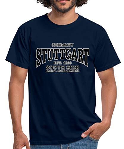 Stuttgart Germany Baden-Württemberg Männer T-Shirt, 4XL, Navy
