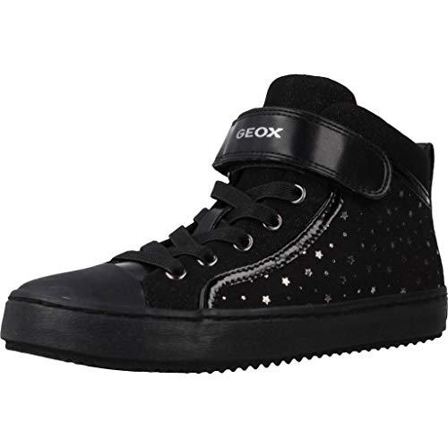Geox Mädchen High-Top Sneaker Kalispera Girl, Kinder Sneaker,Sportschuh,Sneaker-Stiefelette,mid-Cut,atmungsaktiv,SCHWARZ,29 EU / 11 UK Child