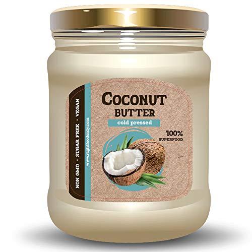 Kaltgepresste RAW Kokosnussfleisch Kokosnussbutter 230 g - Zuckerfreies Veganes 100% Reines Superfood Ohne GVO