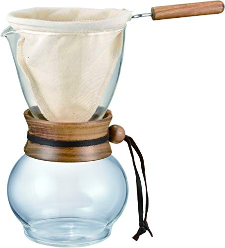 HARIO Kaffeezubereiter, Glas, Holz, farblos,