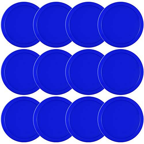 Coopay 12 Stück Home Air Hockey Pucks 6,3 cm schwere Ersatz Pucks für Spieltische Ausrüstung Zubehör, 13 Gramm (blau)
