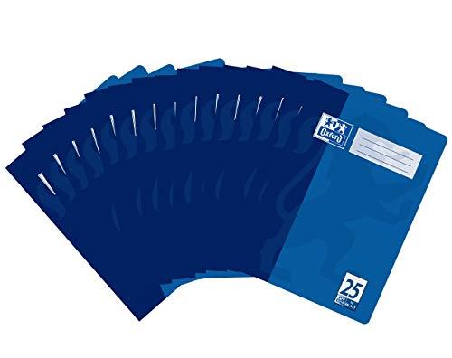 Oxford Schule Schulheft A4, Heft liniert mit Rand, Lineaur 25, 16 Blatt, blau, 15er Pack