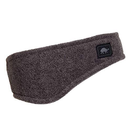 Turtle Fur Double-Layer Bang Band, Chelonia 150 Fleece Headband,Charcoal,One Size
