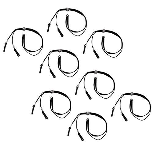 UKCOCO 8 Stück Mundschutz Lanyard Halsband Anti Lost Gesichtsschutz Verlängerungshaken Straps Halterung Neck Rope für Sonnenbrille Lesebrille Kinder Erwachsene 35 cm (Schwarz)