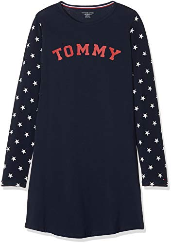 Tommy Hilfiger LS Dress Stars, Nightgown Girls, Pink (Navy Blazer 416), 140 (Manufacturer Size: 8-10)