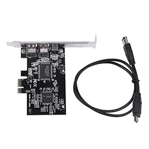 Scheda Controller PCI-E PCI Express FireWire 1394a IEEE 1394 con Cavo Firewire, Supporto Windows 10/8/7/Vista/XP/2000/ME/98SE/Server 2003-2008 32/64-bit, per Mac