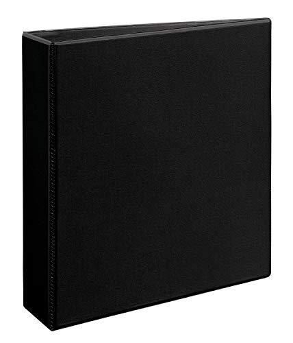 Avery 79692 Heavy-Duty View Binder, 2 Inch One-Touch Slant Rings, 540 Sheet Capacity, DuraHinge, Black