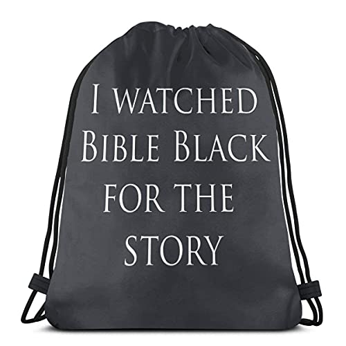 asdew987 I Watched Bible Black for The Story - Mochila deportiva con cordón