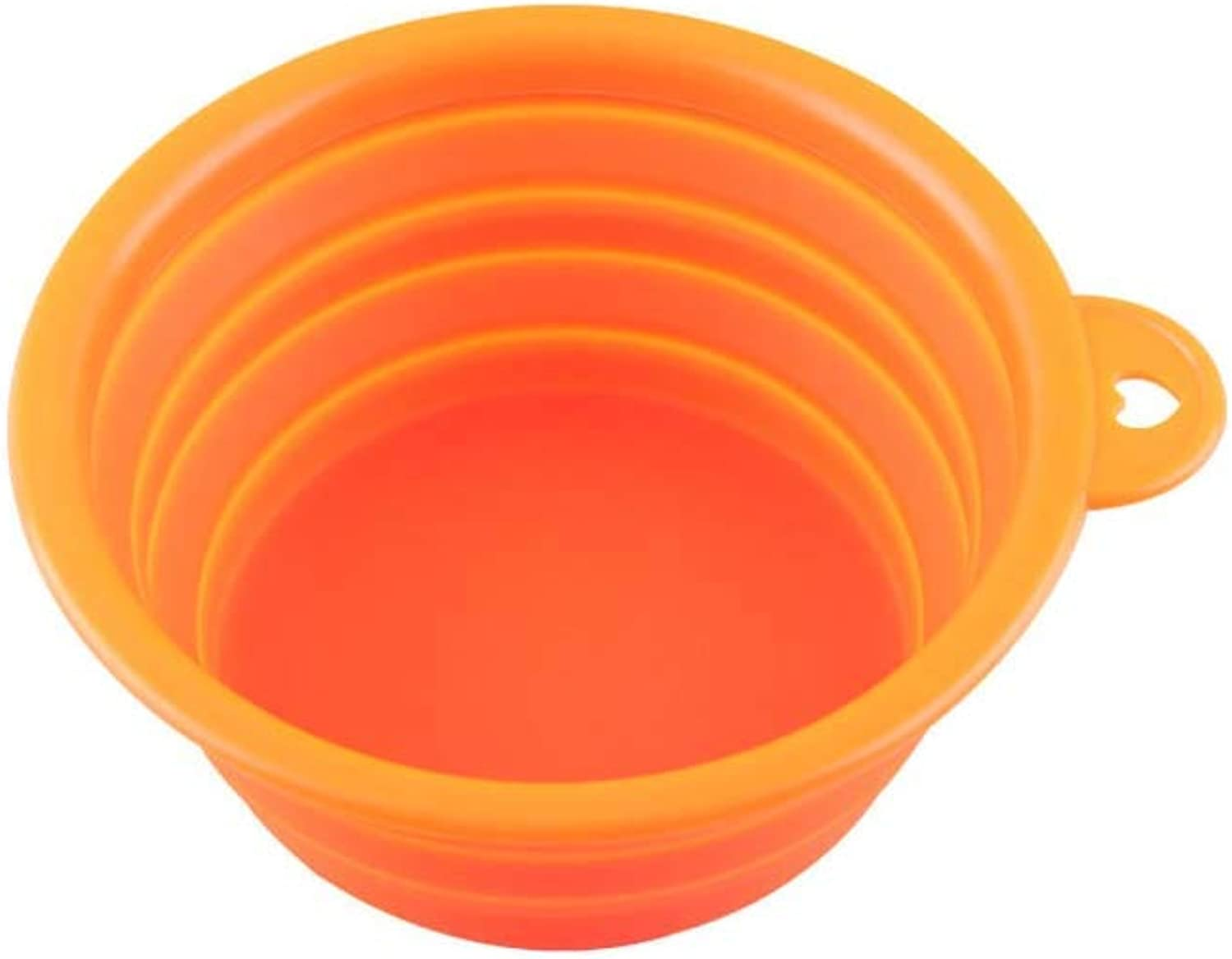 Cat Pet Silicone Food Bowl,Collapsible Dog Bowls Portable Water Bowl Pet Silicone Food Bowl,orange
