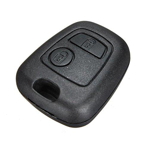 Lage Autoschlüssel-Gehäuse, Funkschlüssel mit 2 Tasten für Citroen C1 C2 C3 C4 und Peugeot 107 207 307 407 106 206 306 406