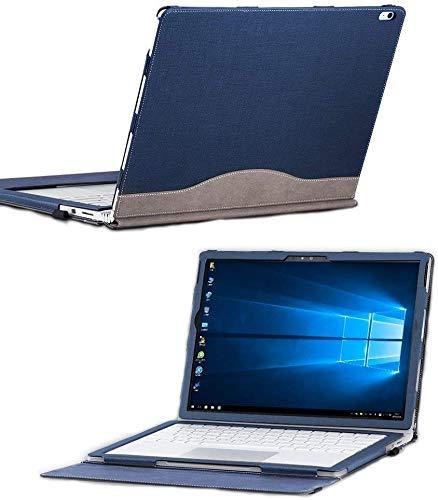 Calfinder Hülle für das Surface Book 2,Premium PU-Leder Hülle, 15 Zoll, lösbare magnetische Halterung, 2-Wege Nutzung,Blau