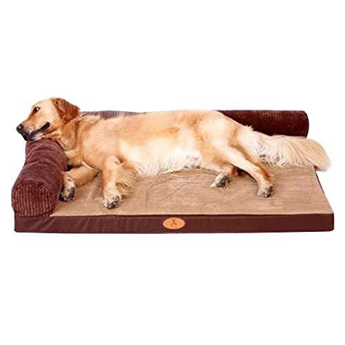 LXYUCWD Bilaterale hond matras pad winter hondenbed Labrador middelgrote grote hond huisdier Nest Golden Retriever hond levert warm (bruin) X-Small bruin