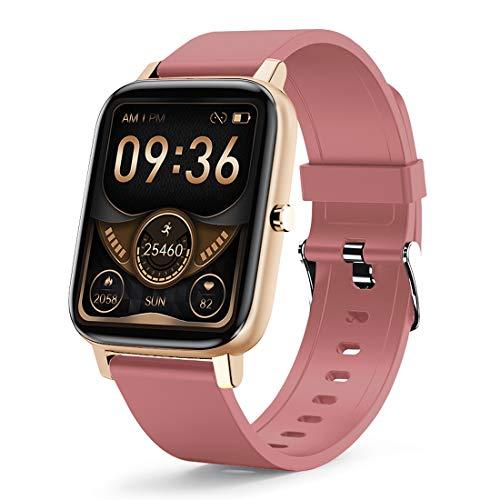 LAMA Aktivitätstracker Smartwatch mit 1.69' Touch Screen Schrittzähler Schlafmonitor IP67 Wasserdicht Smart Watch Fitness Tracker Pulsuhr Sportuhr Stopwatch Stoppuhr für...