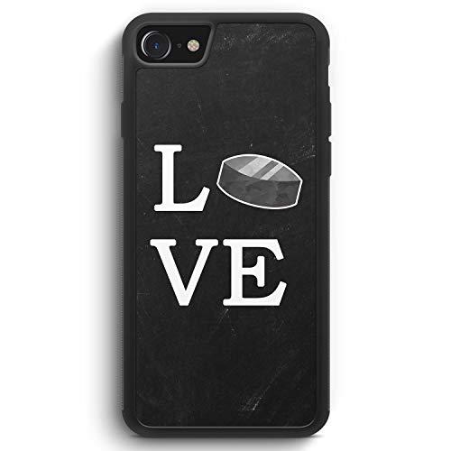 Love Hockey - Silikon Hülle für iPhone 6 / 6s - Motiv Design Sport - Cover Handyhülle Schutzhülle Case Schale