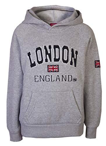 Sudadera Love Lola con capucha, para niños y niñas, recuerdo de Londres Gris gris claro 11-12 Años