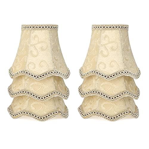 YSDSPTG Tulipa de lámpara Art Deco Lámpara Sombras de Cristal Muro Cristal Vela Araña Araña Tela Lámpara Estilo Nórdico Cubierta de lámpara Moderna para decoración del hogar
