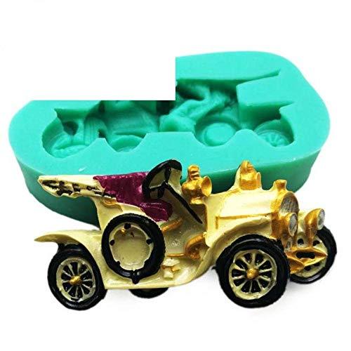 DACCU Nouveau 10 Style Vintage Voiture Silicone Fondant moules gâteaux Outils de décoration pour Moule en Argile de polymère de Sucre Chocolat Moule de Cuisson, F0860XC