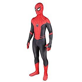 Far From Home Spider Suit Cosplay Costume Full Coverage Zentai With Mask Rubber Lenses 120cm