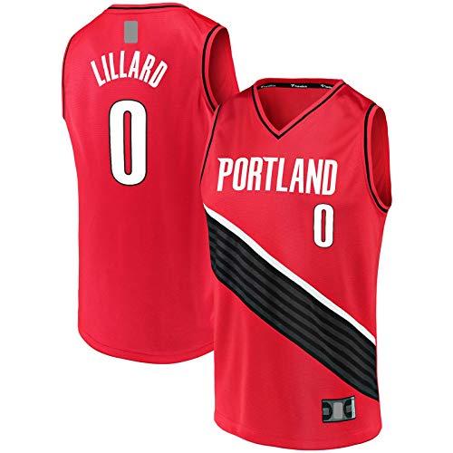 OYFFL Damian Top Lillard Traning Jersey Portland Camiseta de baloncesto Trail Blazers #0 Fast Break Jersey Rojo - Declaración Edición-L