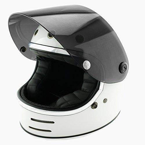NEO VINTAGE レトロフューチャー フルフェイス SG規格品 [ホワイト×ダークスモークシールド 白 Lサイズ:59-60cm対応] VT-9 バイクヘルメット