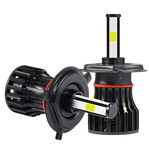 TTBD 2 Piezas H4 / 9003 PatróN de IluminacióN de 360 Grados (4 Lados) Kit de Bombillas de Faros LED 2000W 300000LM 6000K Blanco