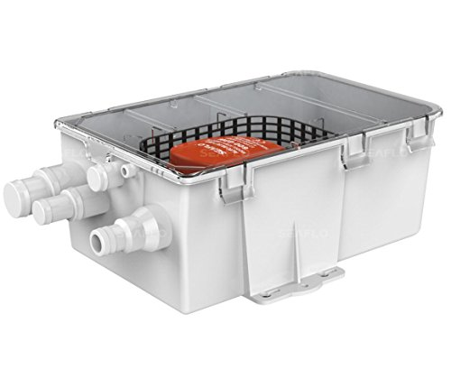 SEAFLO DC Shower Sump Pump System Box Multi Inlet 12V 750GPH by Seaflo