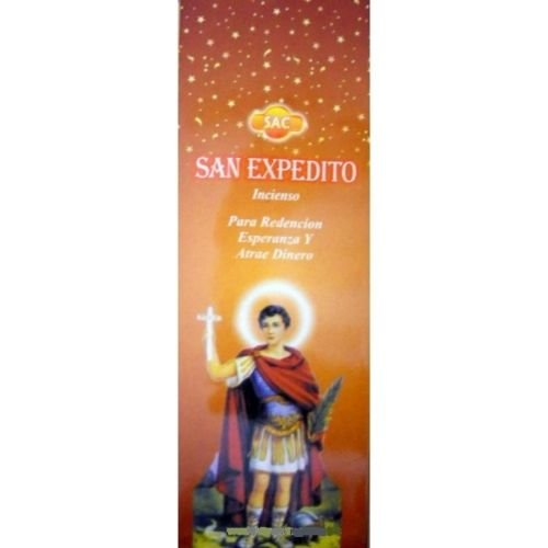 Incienso SAC San Expedito - Set de 6 paquetes hexagonales
