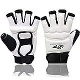 9. Kickboxing Gloves Punch Bag Muay Thai Boxing Training Fingerless Gloves for Men Women Children White L